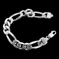 Sterling Silver Curb Link Vintage Bracelet Marked Italy 925