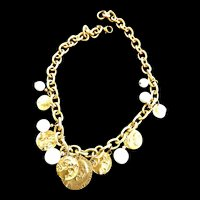 1970 Link with Milkglass and Charms