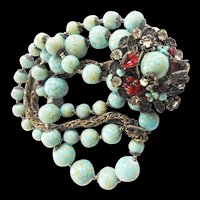 Exquisite DeMario Turquoise Matrix Jewel Enhanced Bracelet