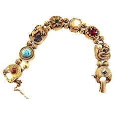 Griffins and Serpents Oh MY Goldette Slide Bracelet  Vintage Faux Pearls