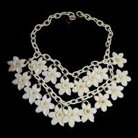 Feather weight Vintage Early 1900s Celluloid Flower Collar