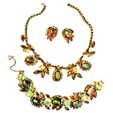 Spectacular Juliana Watermelon Tourmaline Necklace Bracelet Earrings