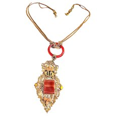 Exquisite 1800s to Early 1900s Festoon Carnelian Necklace
