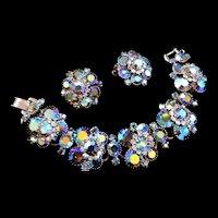 Beyond Dazzling Juliana 5 Link Aurora Borealis Bracelet and Earrings