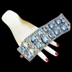 Outrageous 2 inch Wide Designer Massive Rhinestone Bracelet