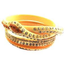 Vintage Snake Celluloid Bracelet set Must C