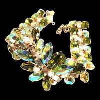 Breathtaking Caviness Peridot Rhinestone Bracelet