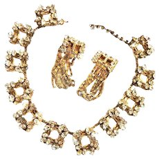 Vintage Schiaparelli 1940s Necklace and Earrings