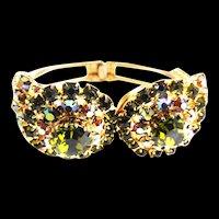Juliana Owl Olivine Clamper Bracelet