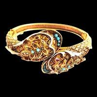 Gorgeous Arthur Pepper Double Cobra Bracelet