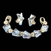 Juliana Pentagon Shaped Glass 5 Link Bracelet