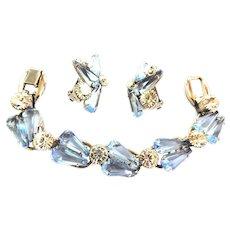 Juliana Pentagon Shaped Glass 5 Link Bracelet