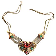 Exquisite Early 1900s Czech Jeweled Necklace