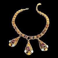 Exquisite Heavy Etruscan Vintage Vintage Charm Necklace