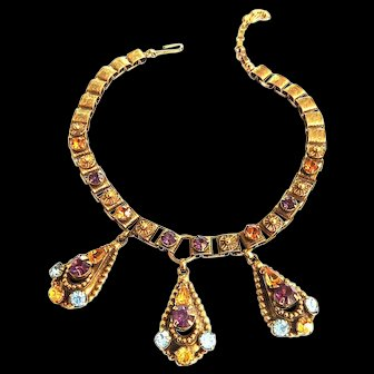 Exquisite Heavy Etruscan Vintage harm Necklace