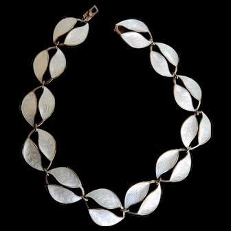 David Andersen Silver and Enamel Necklace