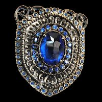 Early 1900s Sapphire Blue Dress Clip
