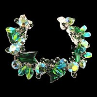 Juliana Emerald and Bead Rhinestone Bracelet