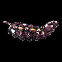 Fabulous Regency Jewels 4 Inch Navette Brooch