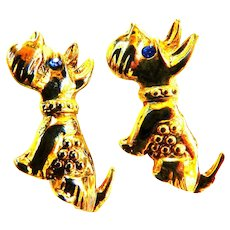 Vintage Puppy Dogs Sweater Pins1960s
