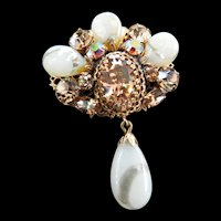 Regency Big Chunky Vintage Drippy Brooch