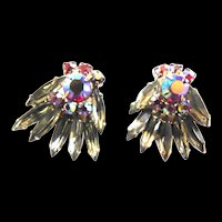 Juliana Clip Vintage Earrings