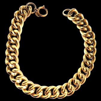 Erwin Pearl 1950s Curb Chain Necklace