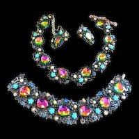 Exquisite Designer Watermelon Necklace Bracelet Earrings Vintage 50s