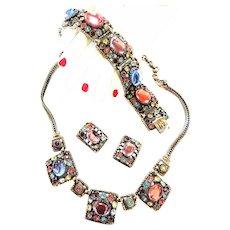 Selro Full Parure Vintage necklace Bracelet Earrings