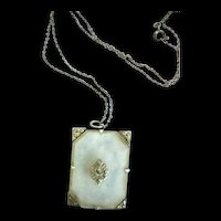 Early 1900s Camphor Glass Necklace