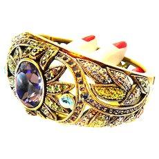 Exquisite Designer Clamper Bracelet  Multiple stones