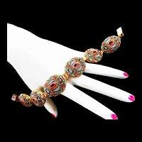 Victorian MIcro Mosaic Exceptional Bracelet