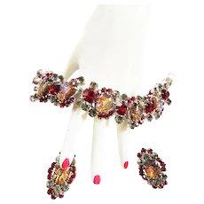 Fabulous Juliana Vintage Cat Eye Bracelet and Earrings