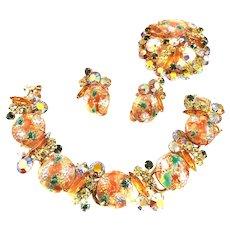 Dazzling Juliana Easter Egg Necklace Bracelet Earrings
