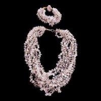 Vintage Quartz Necklace and Bracelet