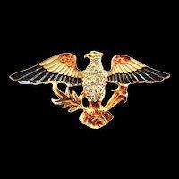 Gorgeous American Eagle Vintage Brooch Eisenberg