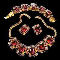 Exquisite Deep Amethyst Juliana necklace Bracelet Earrings