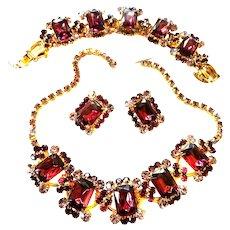 Exquisite Deep Amethyst Juliana vecklace Bracelet Earrings