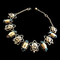 Victorian Sarcophagus  Necklace Late 1800s Egyptian