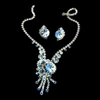 Gorgeous Sapphire Blue Rivoli Juliana Necklace and Earring Set