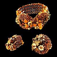 Vintage Jonne Bracelet and Earrings Demi
