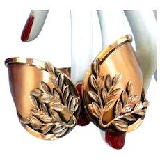 Renoir Laurel Clamper Bracelet and Earrings