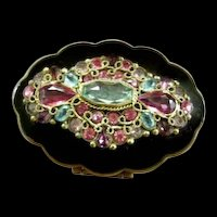 Exquisite 1940s Jeweled Powder Compact
