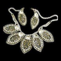 Exquisite Smoke Leaf Designer Necklace and Earrings