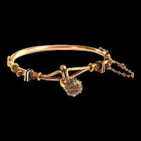 Victorian Cannentille Gold Filled Bracelet Love Knot