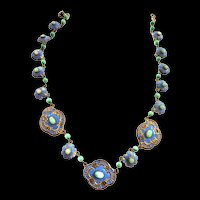 Exquisite 1920s Czech  Necklace Must See