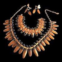Midcentury Modern Matisse Copper Enamel Parure