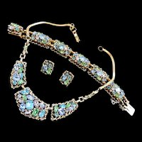 Dazzling Barclay Vintage Necklace Bracelet Earrings