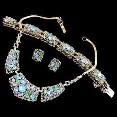 Dazzling Barclay Vintage Necklace Bracelet Earrings