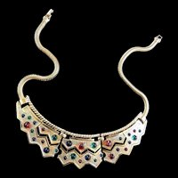 Fabulous Boucher Vintage Egyptian Revival Collar Necklace